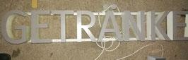 alte Buchstaben vom GETRÄNKEMARKT Nr 2102-03