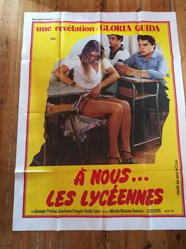 """altes Kinoplakat Filmposter XXL 160 x 120 cm """"A nous les Lycéennes"""""""