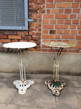 antiker Gartentisch Jugendstil Frankreich weiß Nr 2008-04