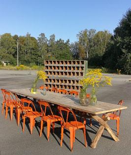 Ein Traum!  3,90 m antiker Esstisch Konferenztisch Tafel mit Naturholzbeinen Nr 2806