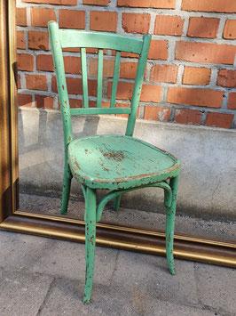 antiker Bugholz Stuhl türkisgrün Nr 1510
