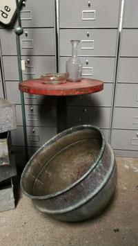 alter Kupfertopf als Lampenschirm sehr schöne Form
