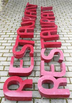 alte Buchstaben Wort RESTAURANT NR 1603-02
