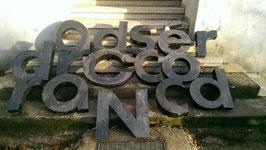 alte Buchstaben schwarz Nr 7rest