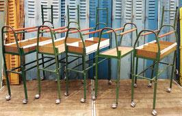 Garderobenwagen Sortierwagen aus Textilfabrik grün Nr 2