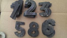 alte Hausnummern alte Zahlen aus Alublech 10 cm