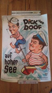 altes Kinoposter Dick und Doof auf hoher See GI 2811-02