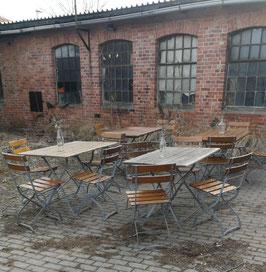 Set alte Biergartenmöbel klappbar Nr 1103-02