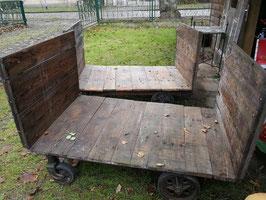 alter Transportwagen restauriert - Sofa Vintage Industrial NR 1112