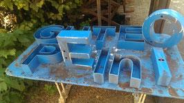 alte Werbebuchstaben Leuchtreklame Buchstaben 0109-02rest