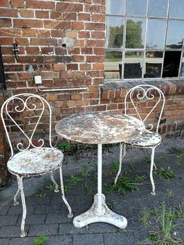 alter antiker Gartentisch Eisentisch aus Frankreich Nr 2305