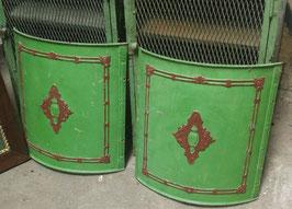 1 Paar alte Ofenelemente aus Gusseisen Kaminspritzschutz 0807