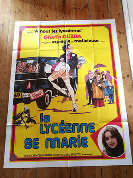 "altes Kinoplakat Filmposter XXL 160 x 120 cm ""La Lycéenne se marie"""