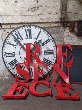 große alte Buchstaben Werbebuchstaben rot Nr 0103