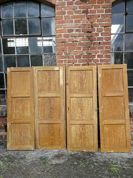 4er Set alte Schranktüren für Wandvertäfelung etc.