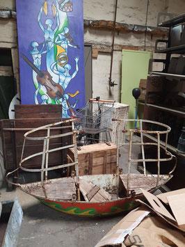 alte antike Schiffschaukel Luftschaukel vom Jahrmarkt Kirmes Karussell Nr 2907