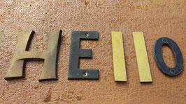 """alte kleine Metallbuchstaben Wort """"HELLO"""""""