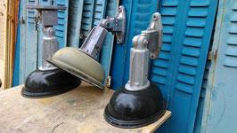 SUPERSCHÖNE alte Straßenlaterne Wandlampe Emaille groß 1203