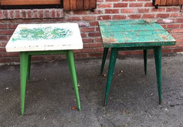 alte Tolix Tische im seltenen Format grün Nr 0611