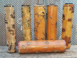 alte Walzen Stoffmuster Holzwalzen Lampenfüße 1701