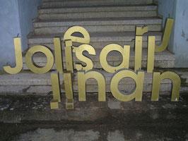alte Buchstaben Messing Nr 9rest