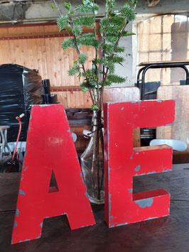 alte Vintage Buchstaben rot Nr 1005-02rest