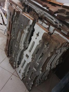 alte Treppengeländer Balkongeländer Balustrade Holz Nr 1605
