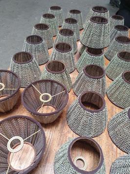 1 Paar kleine Lampenschrime aus Stoff für Wand- oder Tischleuchten 1803