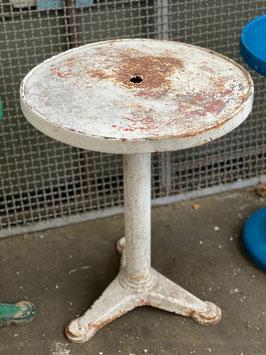 alter antiker Tolix Bistrotisch rund weiss - Rarität Nr 2912