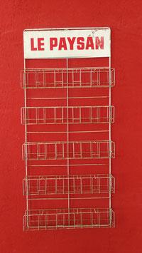 Altes Wandregal Verkaufsständer für Samentüten aus Metall Le Paysan Nr 0107