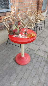 alte Tolix Tisch rund Bistrotisch Metall Nr 1510