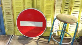 altes Verkehrsschild Einbahnstr. Einfahr verboten aus Frankreich