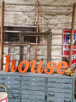 Schöne alte Buchstaben orange-weiß Nr 0705-03