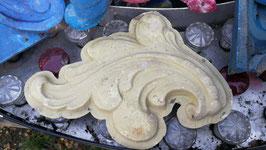 alte Fiberglas Giesform wie Stuck Blatt beige Nr 2910-09