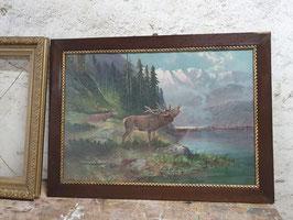 sehr großes Bild mit röhrendem Hirsch Nr 2906