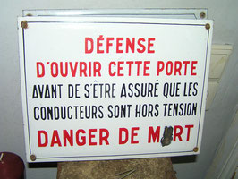 altes Emaille Schild aus Frankreich