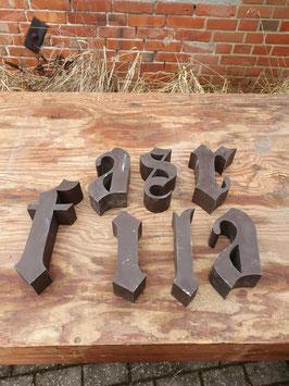 alte Buchstaben braun Nr 0304-06rest