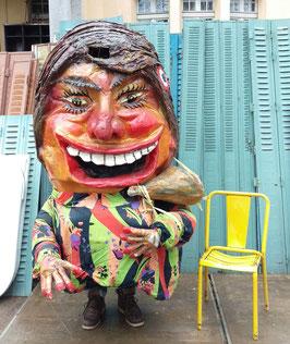 großes Parade Kostüm Karneval Fasching 150 cm h