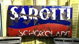 antikes Sarotti Schokolade Schild Emaille gewölbt