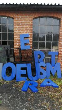 Vintage Buchstaben 77 cm Nr 0810blau