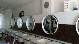 alte Vintage Spiegel Retro Friseurspiegel aus den 60er Jahren 80 cm