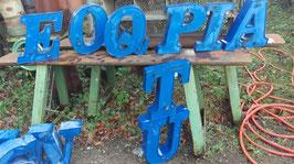 alte Buchstaben blau 36 cm 0612-01rest