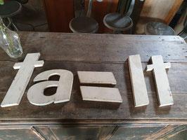 alte Buchstaben creme Nr 1005-04rest
