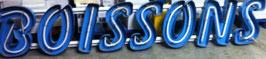 alte Buchstaben ca 55 cm blau (rest)