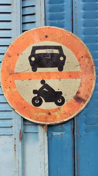 altes Schild 60 cm Nr. auto/moto 0809