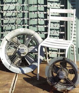 2er Set alte Lüftungsventilatoren aus Zinkblech DDR