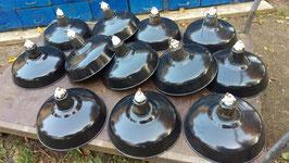 alte Fabrik Emaille Lampen mit Porzellan Nr 0205