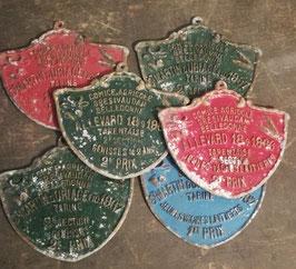 alte große Plaketten für Kühen Bullenrennen Nr 3009-02
