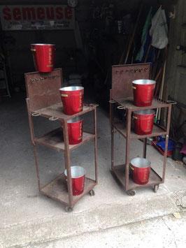 1 Paar Eisenregale aus Werkstatt