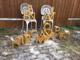 alte Buchstaben, echt vergoldet Nr 3008rest